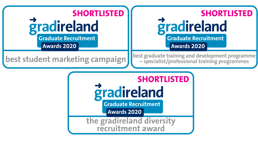 gradIreland shortlisted awards badge